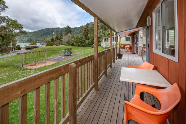 The View From Blue Lake's Tikitapu Motel Unit